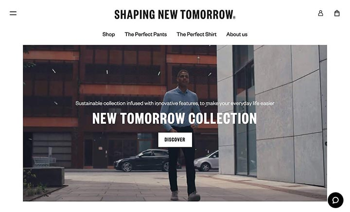 Shaping New Tomorrow website