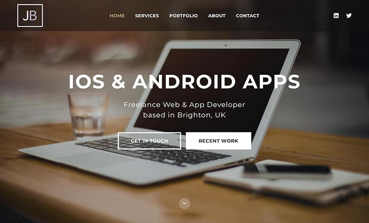 Freelance Web & App Developer UK website
