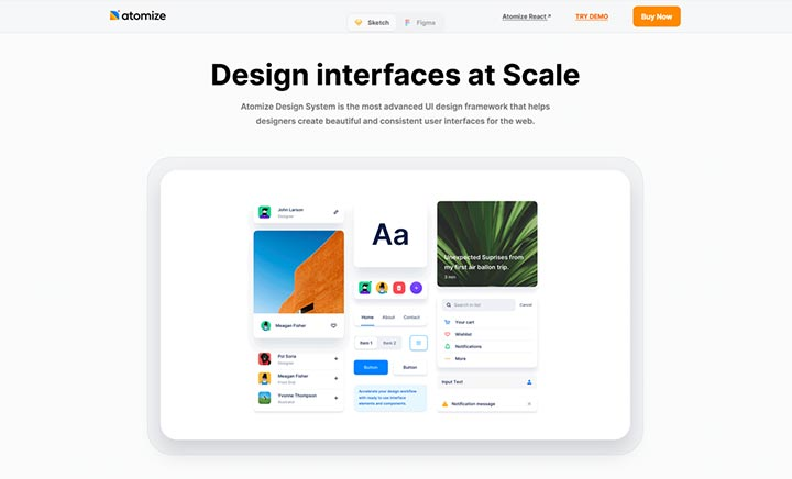 Atomize Design System website