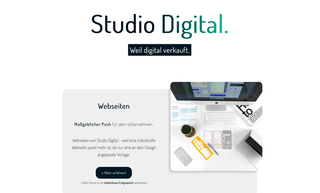 Studio Digital website