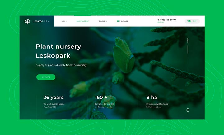 Leskopark Nursery Plants website