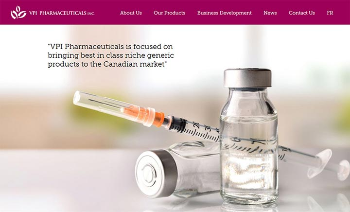 VPI Pharmaceuticals website
