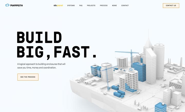 Mammoth Prefab website