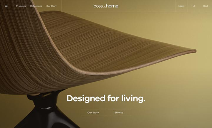 Boss atHome website