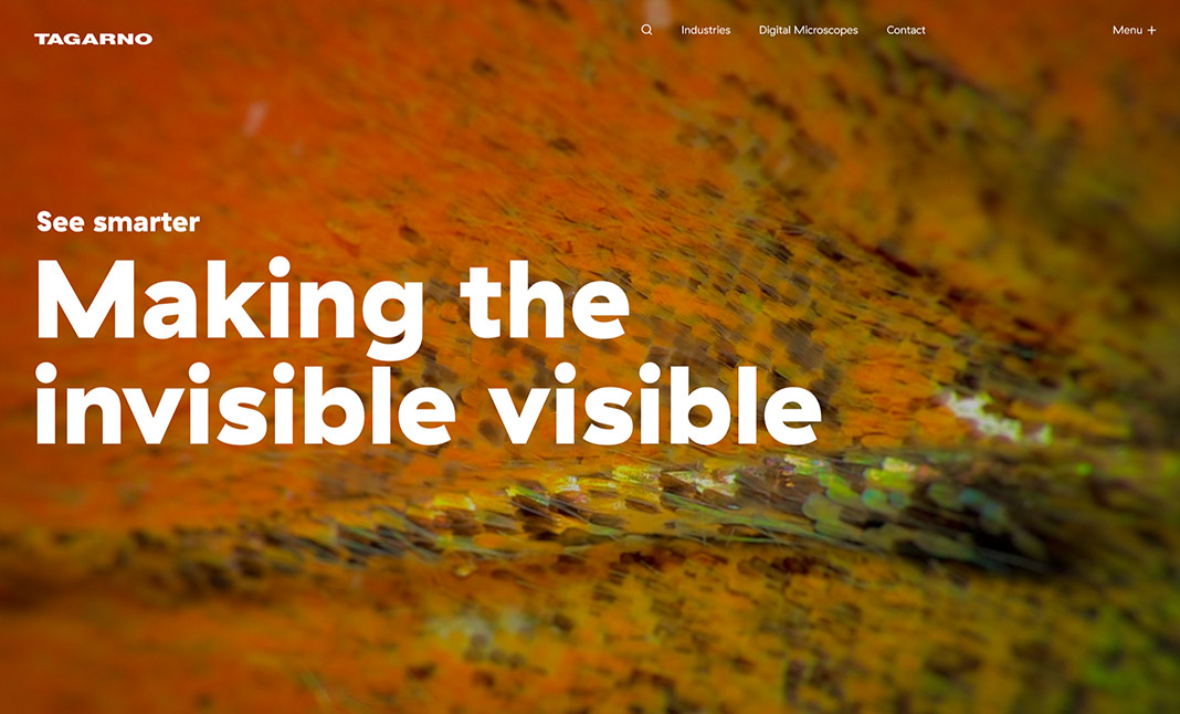 Tagarno - Digital Microscopes website