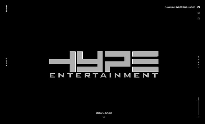 Hype Entertainment website