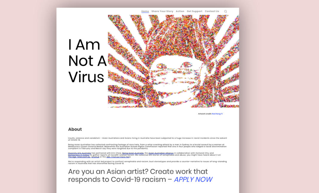 I Am Not A Virus website