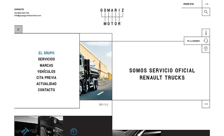 Grupo Gomariz Motor website