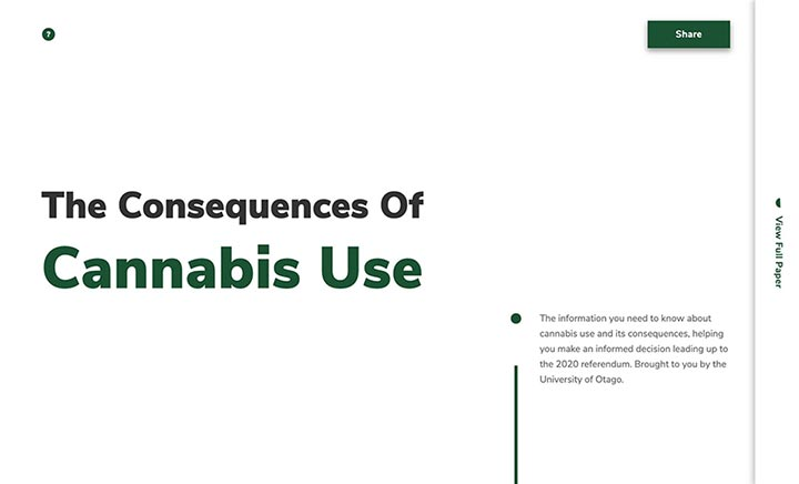 Otago Cannabis website
