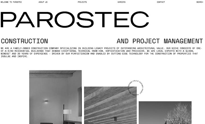 Parostec website