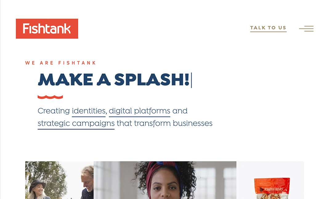 Fishtank Agency website