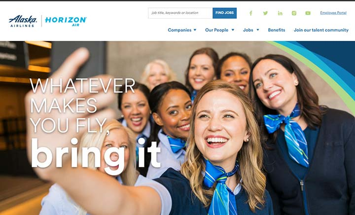 Alaska Air Group Jobs website