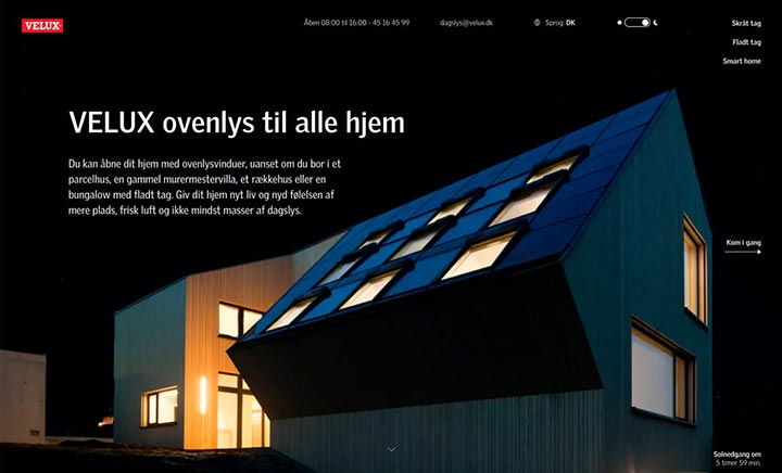 Velux - Skylight website