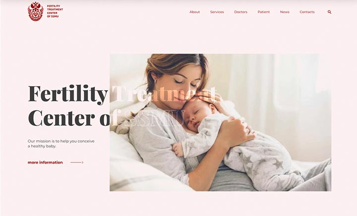 The SMMU Fertility Treatment Center website