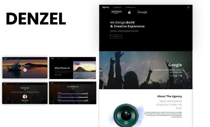 Denzel Agency Theme website