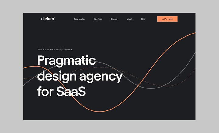Eleken – SaaS Design Agency website