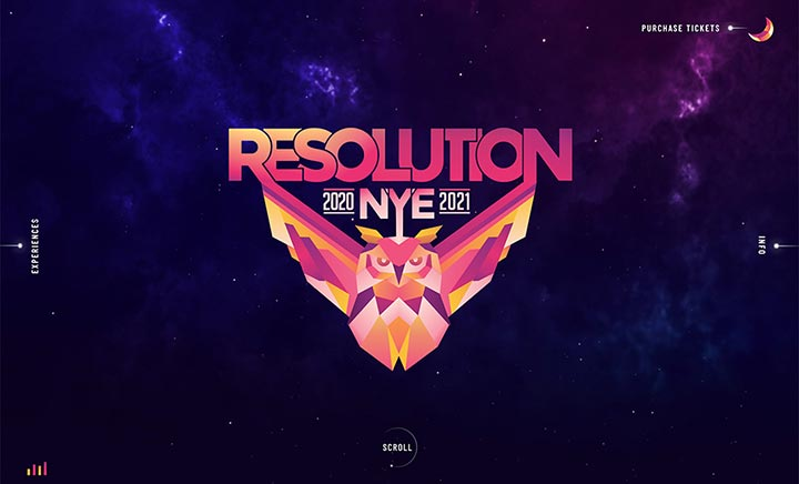 Resolution Festival website