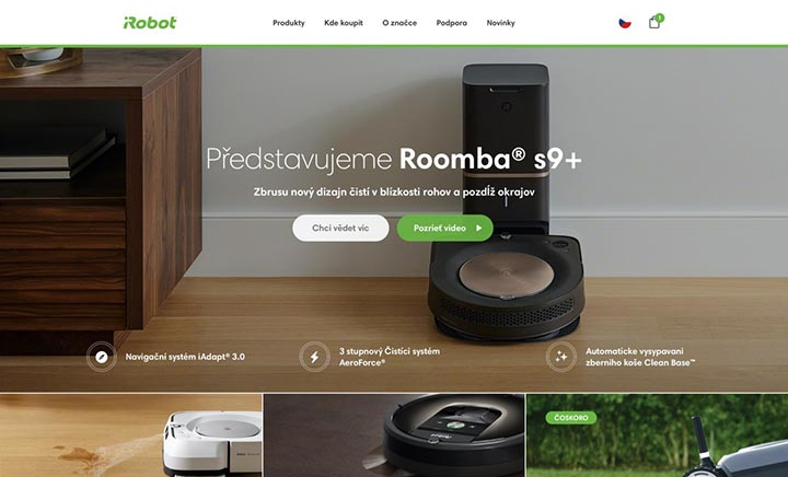 iRobot - Czech Republic website