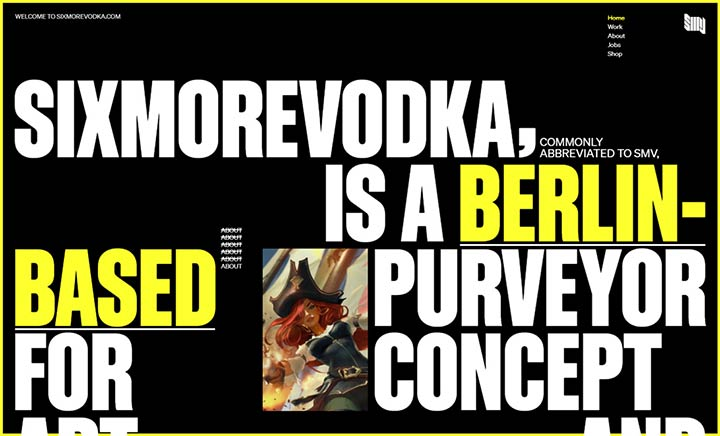 SIXMOREVODKA website