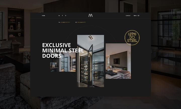 Minimal Steel website