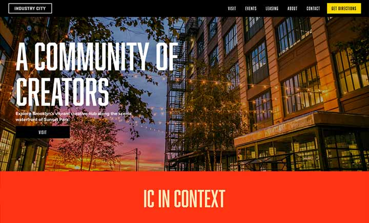 Industry City website