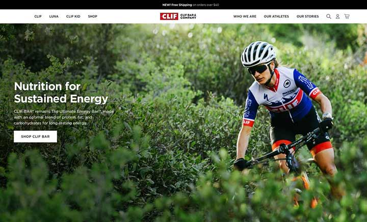 Clif Bar & Company website