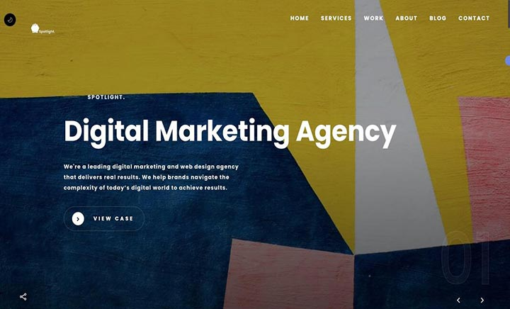 Spotlight Digital Agency website