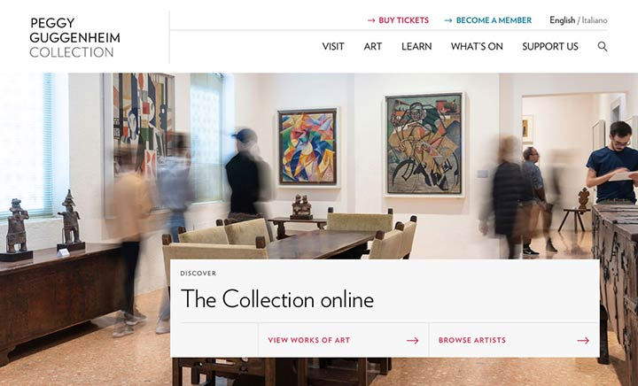 Peggy Guggenheim Collection website
