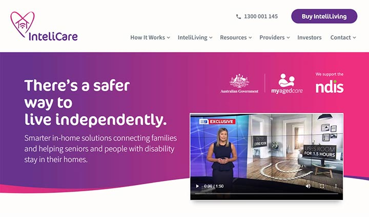 InteliCare website
