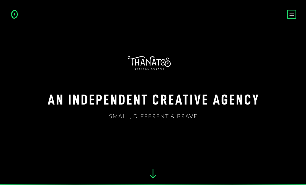 THANATOS Digital Agency website