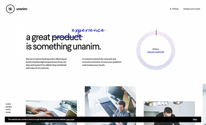 unanim.studio website