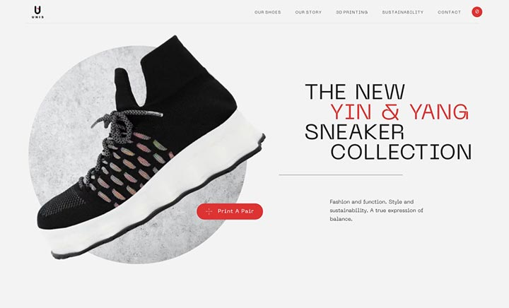 Unis Footwear website