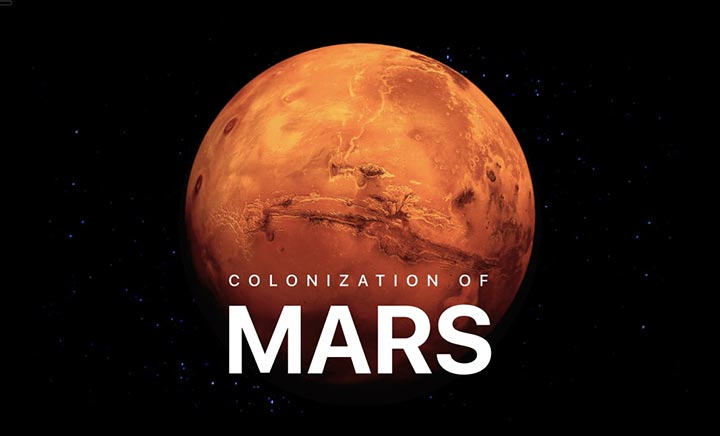 Colonization of Mars website