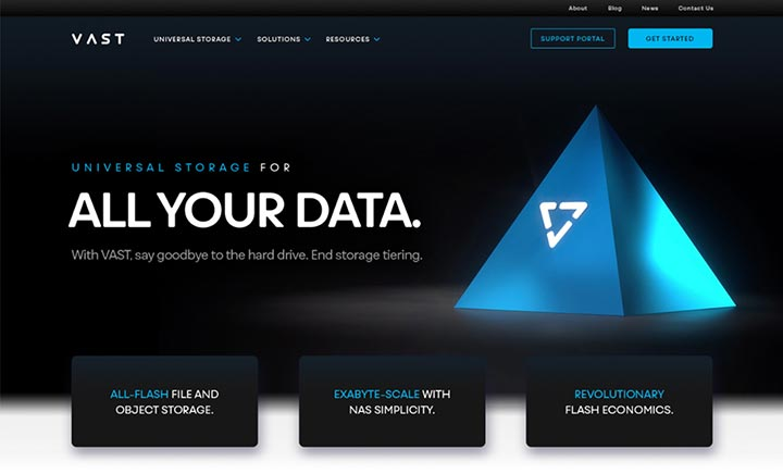 VAST Data website