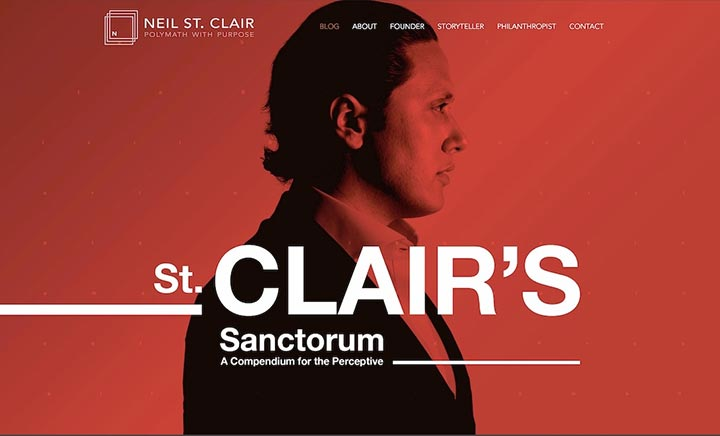 Neil St. Clair (Personal Site) website