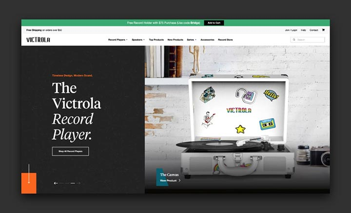 Victrola website