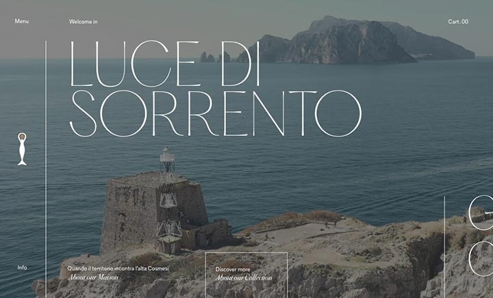 Luce di Sorrento website