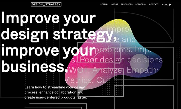 Design Strategy Guide website