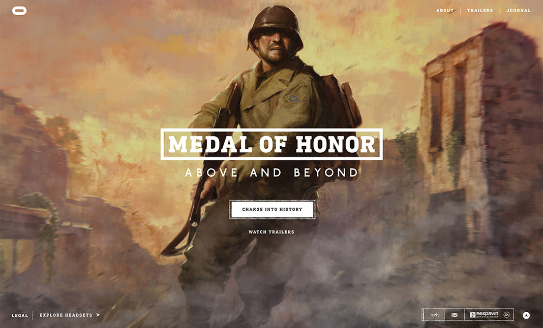Medal of Honor: Above and Beyond website