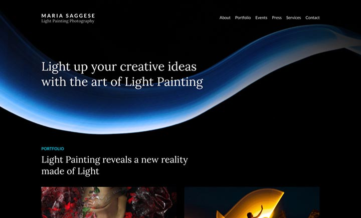 Maria Saggese - Light Painting website