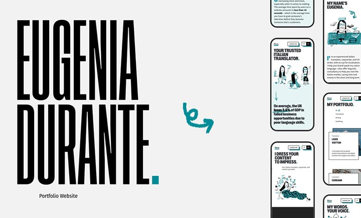 Eugenia Durante Portfolio website