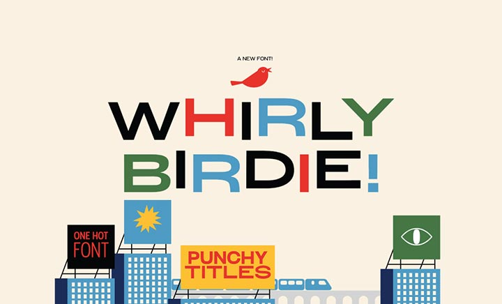 Whirly Birdie Variable Font website