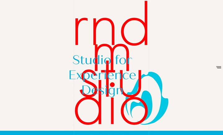 RNDM studio website