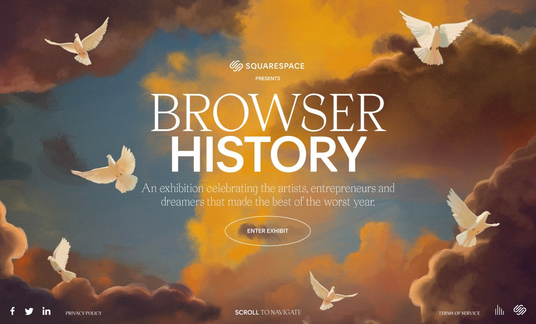 Squarespace Browser History website
