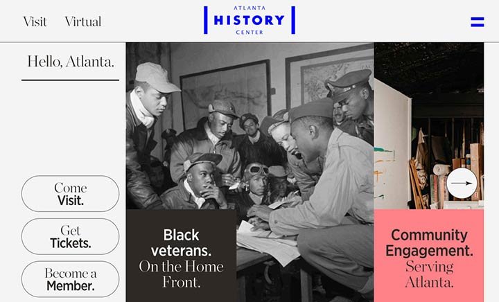 Atlanta History Center website