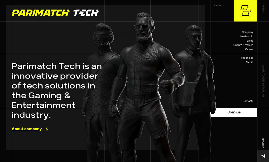 Parimatch Tech website
