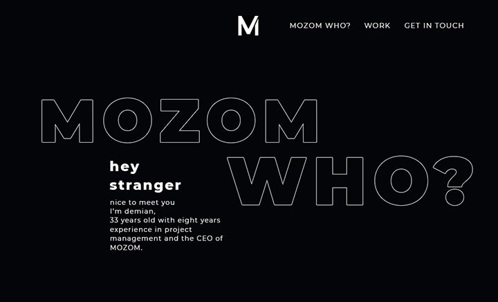 MOZOM website