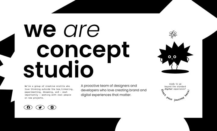 Concept Studio website