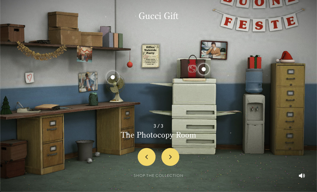 Gucci Gift Giving website