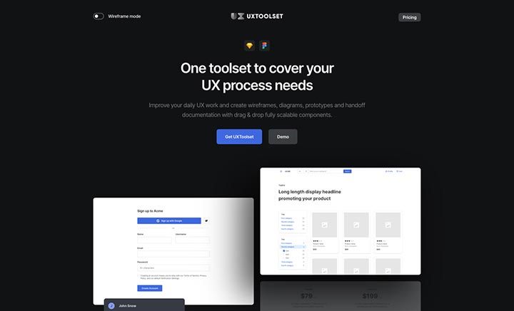 UXToolset website